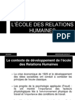 Ecoles Des Relations Humaines