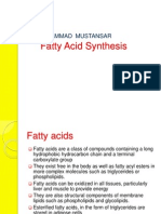 Fatty Acids Synthesis