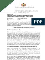 DECLARACIÓN CONSTITUCIONAL 003-2013 - REELECCIÓN PRESIDENCIAL EN BOLIVIA