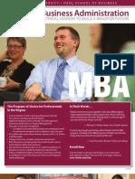 Viterbo MBA Fact Sheet