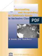 Understanding and Responding to Children's Needs in Inclusive Classrooms