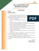 Cead 20131 Administracao Pa - Administracao - Gestao de Projetos - Nr (Dmi839) Atividades Praticas Supervisionadas Atps 2013 1 Adm7 Gestao de Projetos