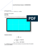 SESS 6061 Advanced Finite Element Analysis_CW2