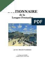 Langue Française DICTIONNAIRE de la Langue Française (40 000 Mots)