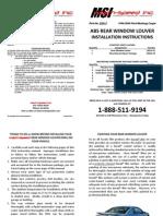 Mach-Speed Inc. P# 22012 Installation Instructions