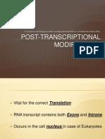 Post Transcriptional Modification