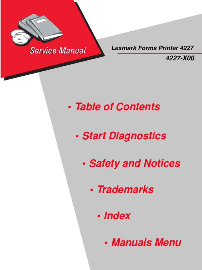 lexmark 4227 forms printer service manual download