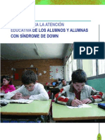 Guia Para La Atencion Educativa de Los Alumnos Con Sindrome Down