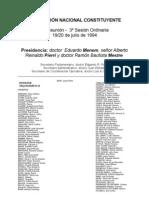 Reforma Constitucional de 1994. Argentina. Debate del 19 de julio de 1994