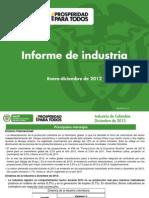 Presentacion Informe de Industria a Diciembre de 2012