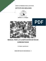 Clasificación de rocas carbonatadas