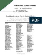 Reforma Constitucional de 1994. Argentina. Debate del 5 de agosto de 1994