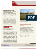 Kingswood Football Club Newsletter April 2013