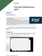 Form Sederhana Gaji Karyawan Dengan Delphi 7 2