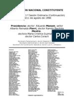 Reforma Constitucional de 1994. Argentina. Debate del 10 de agosto de 1994