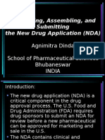 Formatting, Assembling, And Submitting the New Drug Application