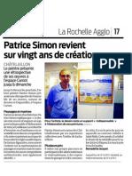 Patrice Simon revient sur 20 ans de création.