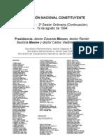 Reforma Constitucional de 1994. Argentina. Debate del 19 de agosto de 1994