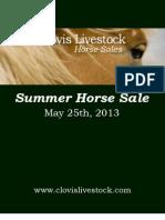 Clovis Horse Sales Summer 2013 Catalog