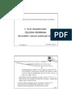1 - Izvor Biopotencijala - Celijska Membrana - Ravnotezni i Akcioni Potencijal