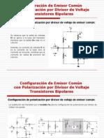 Polarizacion Por Divisor de Voltaje AC Transistores Bipolares