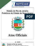 diario oficial de nova iguaçu - 03 de mail de 2013.