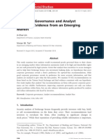 Corporate Governance and Analyst