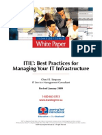 ITIL Best Practices for Managing Your Infrastructure
