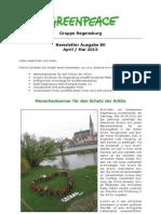 Newsletter 80 Greenpeace Regensburg April - Mai 2013