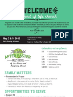 Church Bulletin for May 3 & 5, 2013