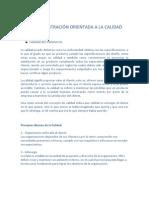 LA ADMINISTRACIÓN ORIENTADA A LA CALIDAD proyecto