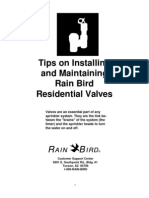 Rainbird - Installation and Maintaining of Valves
