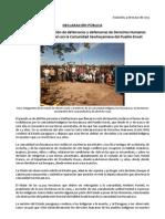 Sawhoyamaxa - La Misión de Observación de defensores y defensoras de Derechos Humanos declara su solidaridad con comunidad