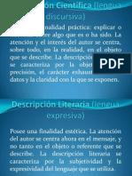 Descripción Científica (lengua discursiva)
