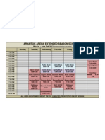 Arnaitok Arena Extended Season  Schedule May 2013