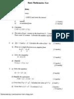 Basic Math Exam (CSEC)