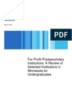 For Profit Undergrad Report