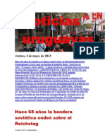 Noticias Uruguayas Viernes 3 de Mayo Del 2013