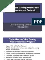 Springfield Zoning Ordinance Modernization Project