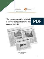 La reconstrucción histórica local a través del periodismo en la prensa escrita