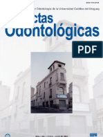 Actas Odontologicas Vol I No 1