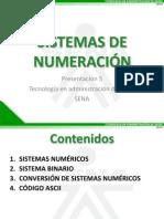Sistema de Numeracion y Tipos de Datos