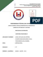 PORTAFOLIO DE AUDITORÍA FINANCIERA II GRUPO # 9