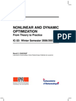 Nonlinear and Dynamic Optimization