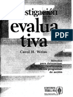 Weiss, Carol_Investigacion Evaluativa