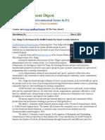 Pa Environment Digest May 6, 2013