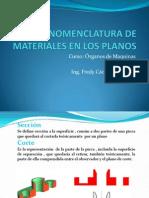 Nomenclatura de Materiales en Los Planos (1)