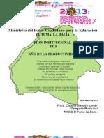 Plan Institucional 2013 Mined La Dalia
