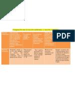 Comparación entre la reacción endotérmica  y reacción exotérmica