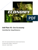 EDEL453 Spring2013 GregWINIEWICZ Unit 2 Economics PLANNER